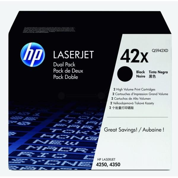 HP Toner 42X schwarz Q5942XD VE=2