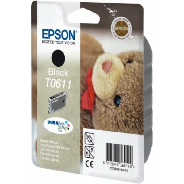 Epson Tintenpatrone T0611 schwarz C13T06114010