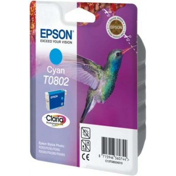Epson Tintenpatrone T0802 cyan C13T08024010