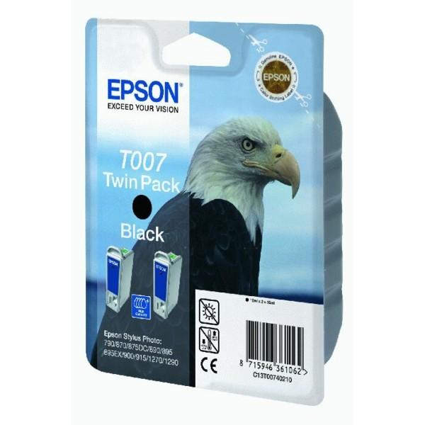 Epson Tintenpatrone T007 schwarz C13T00740310 VE=2