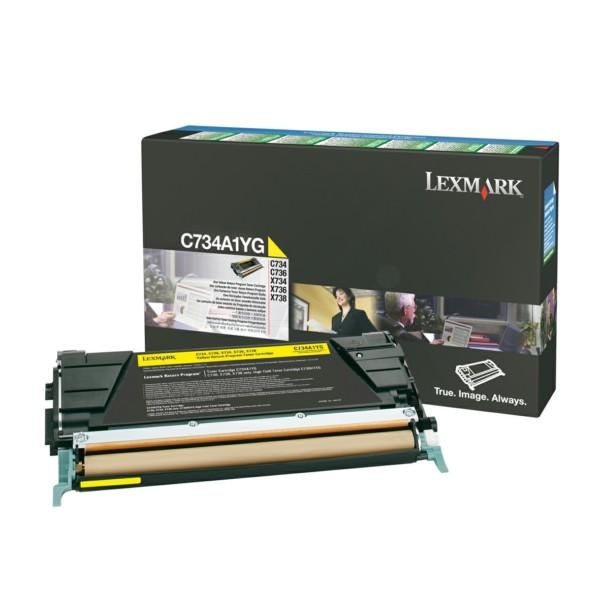 Lexmark Toner C734A1YG gelb
