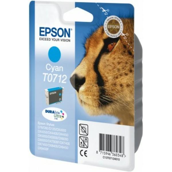 Epson Tintenpatrone T0712 cyan C13T07124010