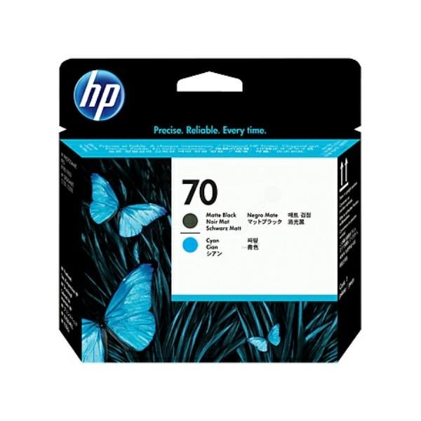 HP Druckkopf Nr. 70 schwarz matt + cyan C9404A