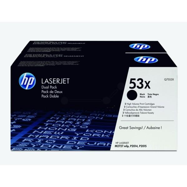 HP Toner 53X schwarz Q7553XD VE=2