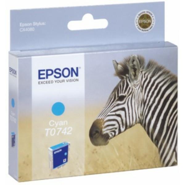 Epson Tintenpatrone T0742 cyan C13T07424010