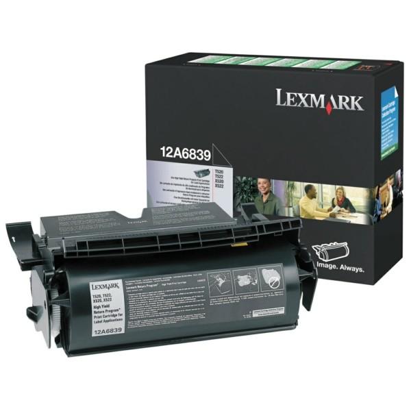 Lexmark Toner 12A6839 schwarz