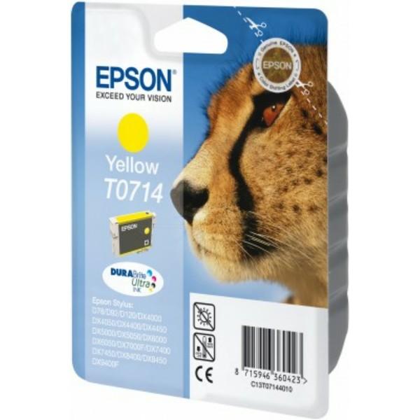 Epson Tintenpatrone T0714 gelb C13T07144010