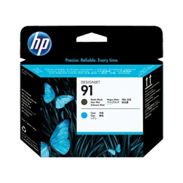 HP Druckkopf Nr. 91 schwarz matt + cyan C9460A