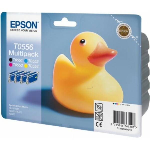 Epson Tintenpatrone T0556 BK,C,M,Y C13T05564010 Multipack