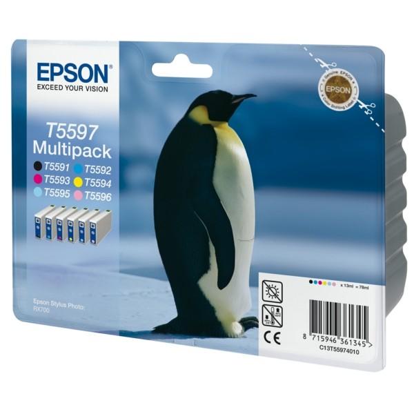 Epson Tintenpatrone T5597 BK,C,M,Y,PC,PM C13T55974010 Multipack