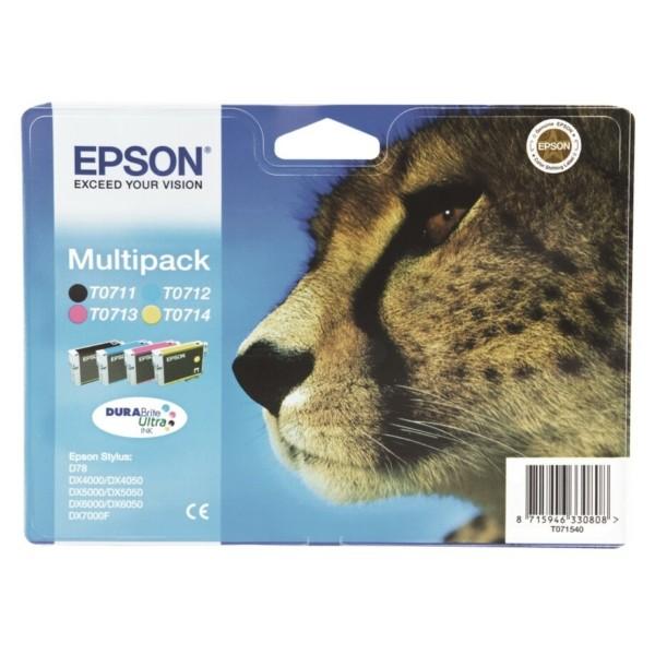 Epson Tintenpatrone T0715 BK,C,M,Y C13T07154010 Multipack