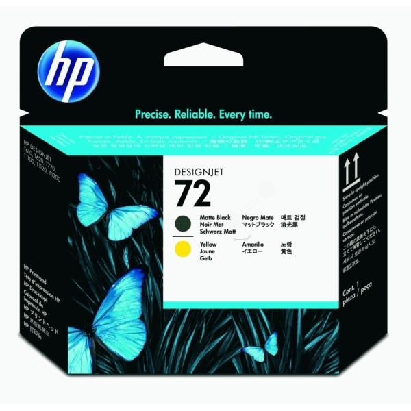 HP Druckkopf Nr. 72 schwarz matt + gelb C9384A
