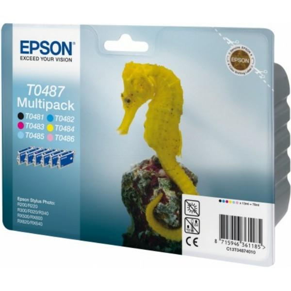 Epson Tintenpatrone T0487 BK,C,M,Y,PC,PM C13T04874010 Multipack
