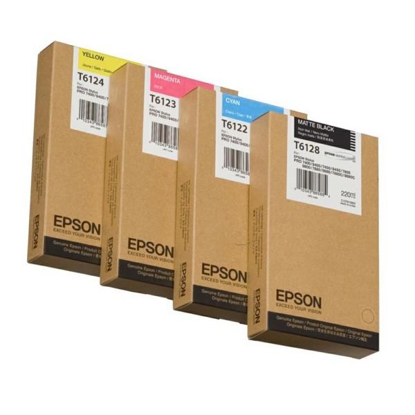 Epson Tintenpatrone T6124 gelb C13T612400