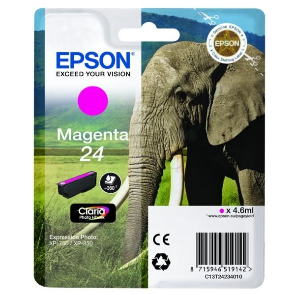 Epson Tintenpatrone 24 magenta C13T24234010