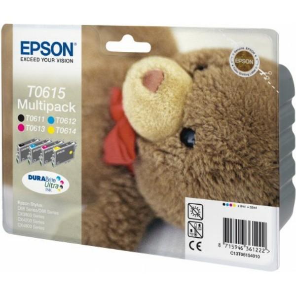 Epson Tintenpatrone T0615 BK,C,M,Y C13T06154010 Multipack