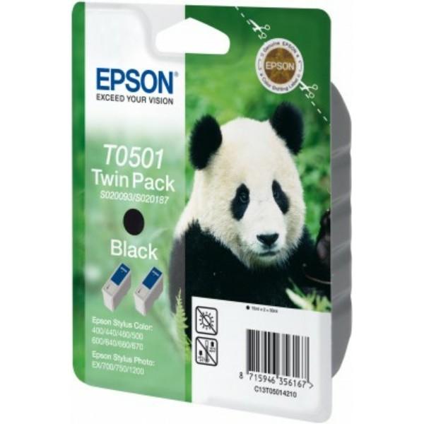 Epson Tintenpatrone T0501 schwarz C13T05014210 VE=2