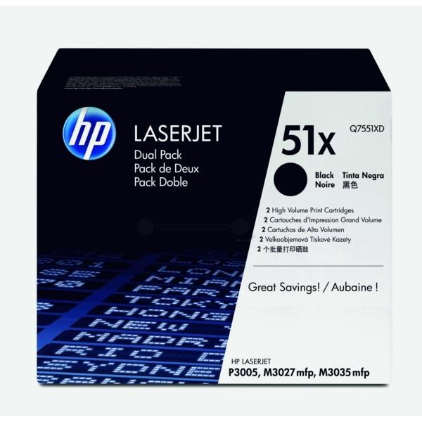 HP Toner 51X schwarz Q7551XD VE=2