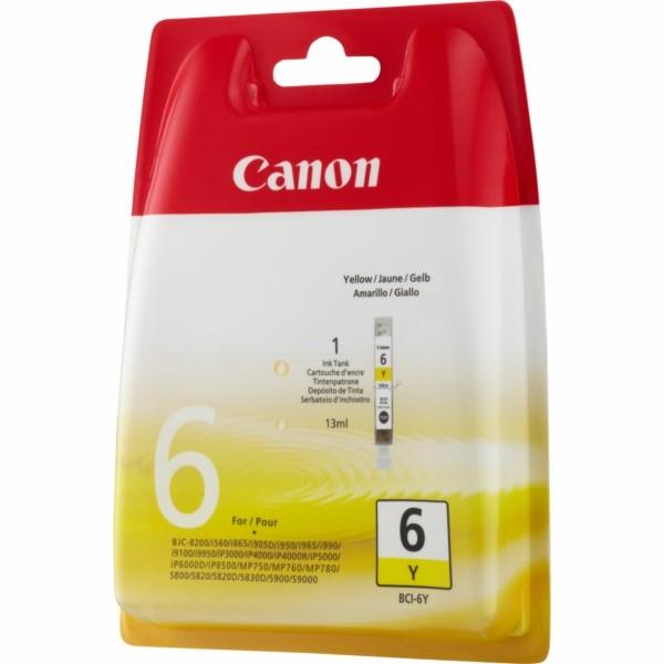 Canon Tintenpatrone BCI-6Y gelb 4708A002