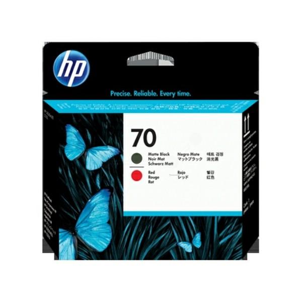 HP Druckkopf Nr. 70 schwarz matt + rot C9409A