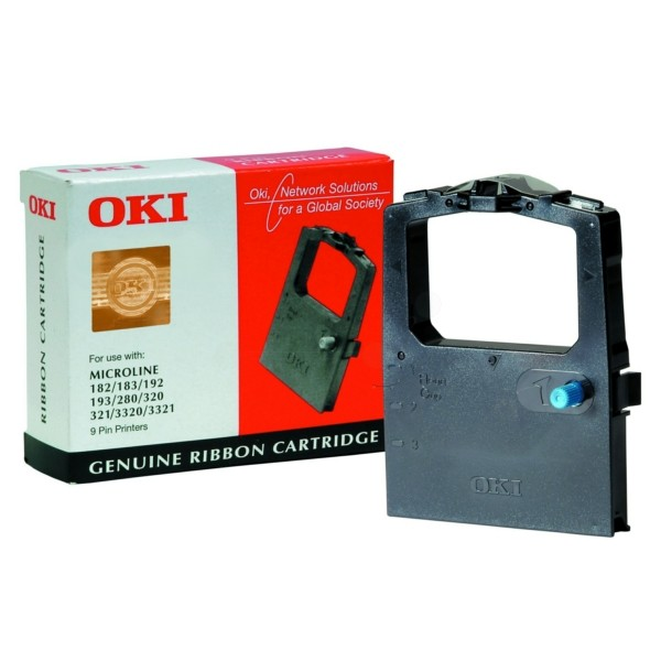 OKI Nylonband 09002303 schwarz