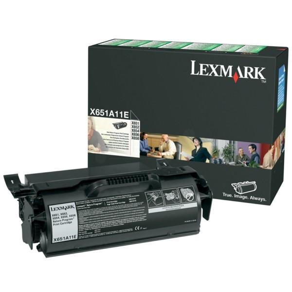 Lexmark Toner X651A11E schwarz