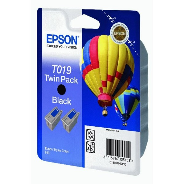 Epson Tintenpatrone T019 schwarz C13T01940210