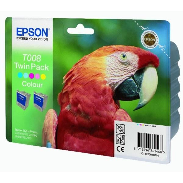 Epson Tintenpatrone T008 color C13T00840310 VE=2