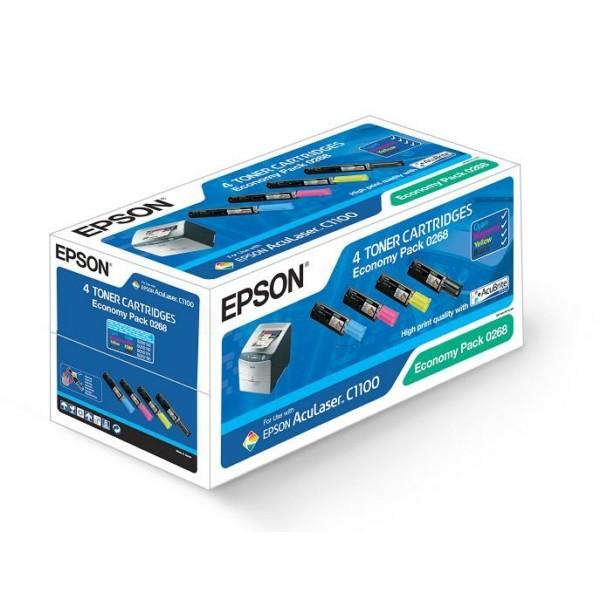 Epson Toner S050268 BK,C,M,Y C13S050268 Multipack