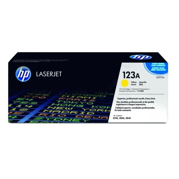 HP Toner 123A gelb Q3972A