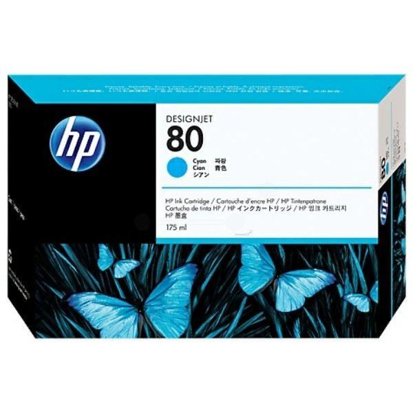 HP Tintenpatrone Nr. 80 cyan C4872A
