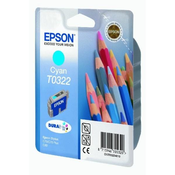 Epson Tintenpatrone T0322 cyan C13T03224010