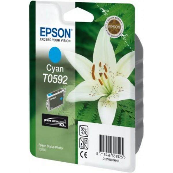 Epson Tintenpatrone T0592 cyan C13T05924010