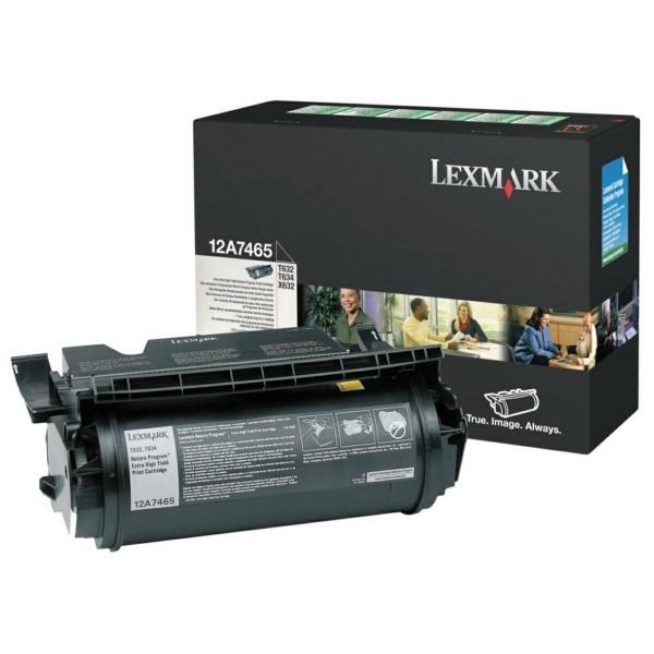 Lexmark Toner 12A7465 schwarz