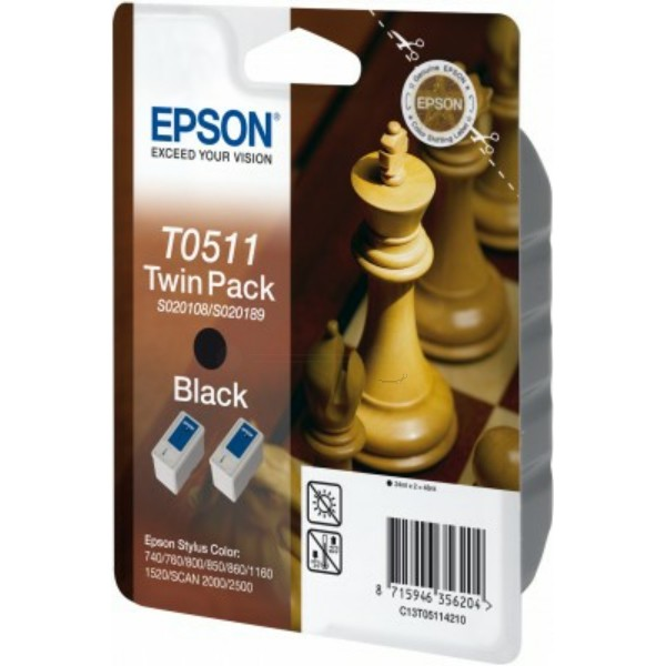 Epson Tintenpatrone T0511 schwarz C13T05114010