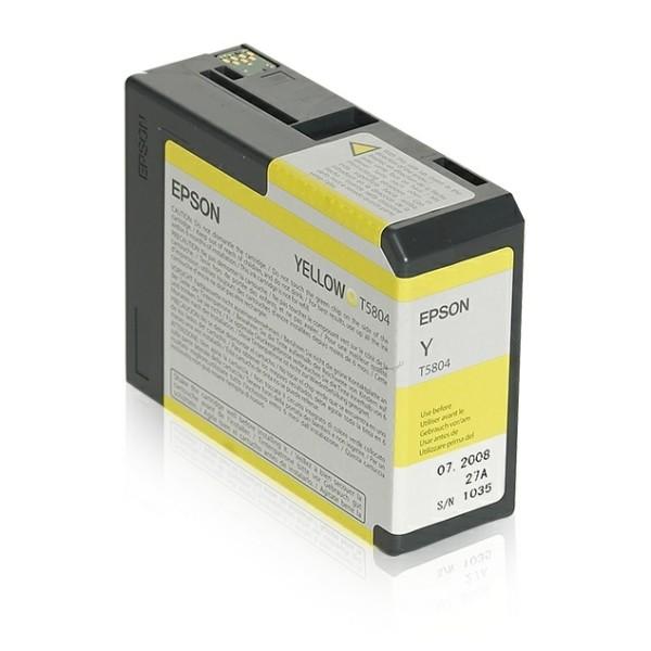 Epson Tintenpatrone T5804 gelb C13T580400