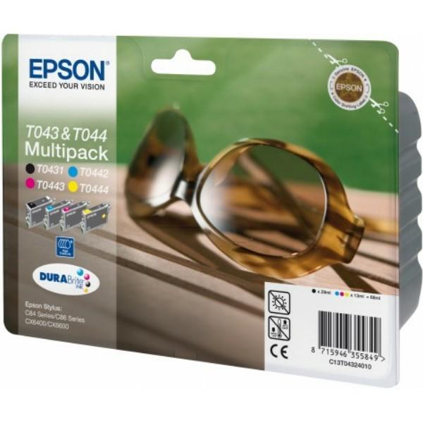Epson Tintenpatrone T0432 BK,C,M,Y C13T04324010 Multipack
