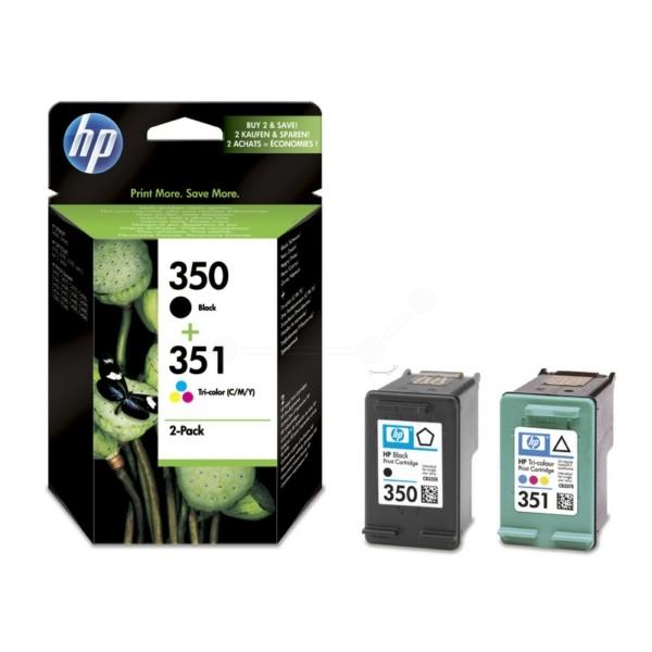 HP Tintenpatrone Nr. 350 + 351 schwarz + color SD412EE Multipack
