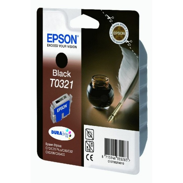 Epson Tintenpatrone T0321 schwarz C13T03214010