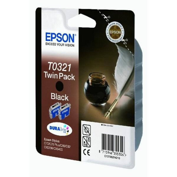 Epson Tintenpatrone T0321 schwarz C13T03214210 VE=2