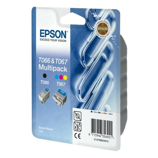 Epson Tintenpatrone T066 schwarz + T067 color C13T06624010