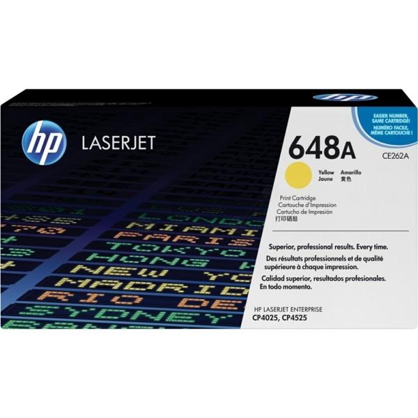 HP Toner 648A gelb CE262A